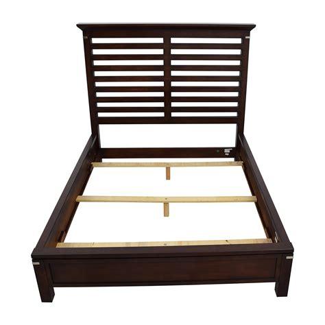 queen wood bed frame 75 off tea trade tea trade dark wood caged queen bed
