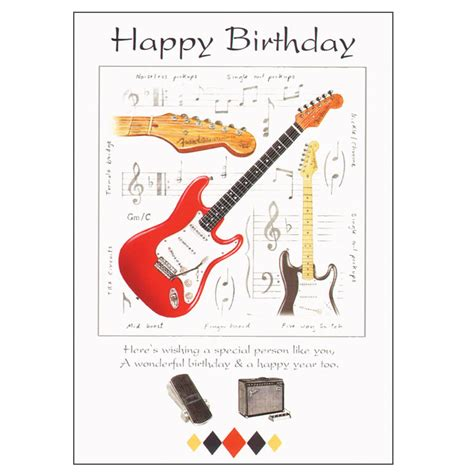 guitar birthday card sparkle home and gifts