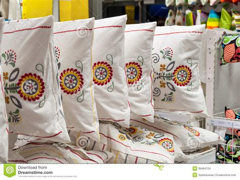 how to store pillows bedding and home textile store stock images image 36464724