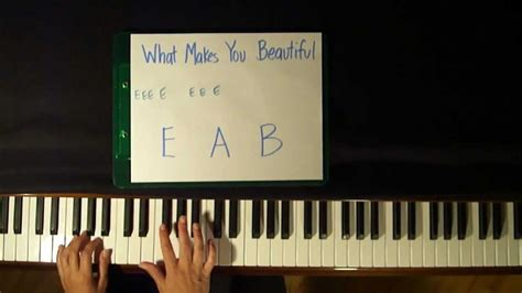 tutorial piano you re beautiful how to play what makes you beautiful by one direction
