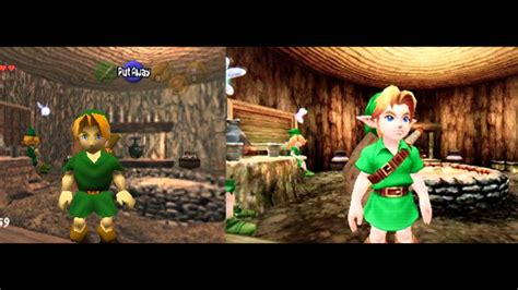 Kaset 3ds The Legend Of Ocarina Of Time 3d the legend of ocarina of time n64 3ds comparison pictures