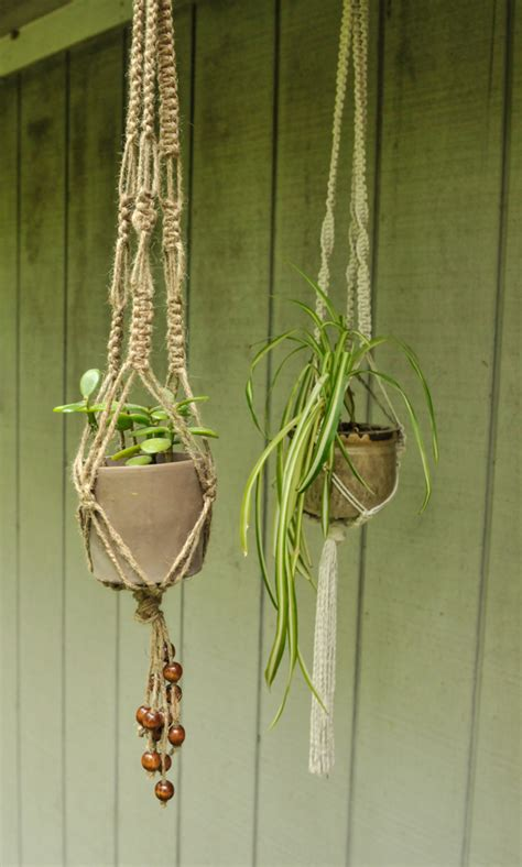 Rope Plant Hanger - diy macrame plant holders a chic way to hang indoor plants