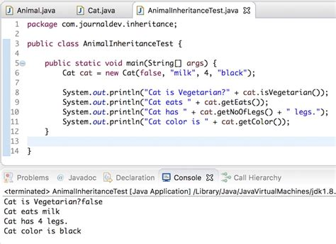 color class java inheritance in java exle journaldev