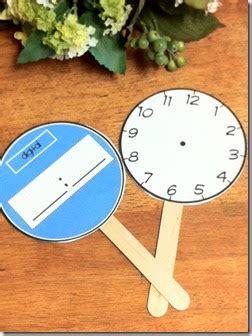 printable clock paddles 2nd grade ponderings time practice