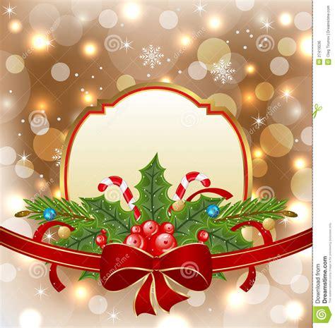 christmas elegant card  holiday decoration stock vector image