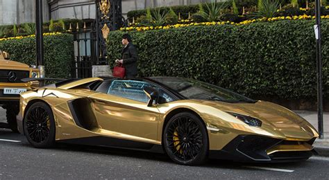 lamborghini aventador sv roadster gold the gold supercars of london gold blog