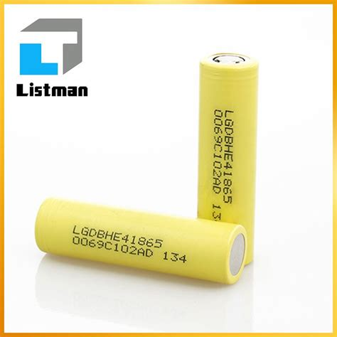Baterai Lg He4 2500mah Original 18650 Not Samsung Awt Sony Vtc Lg Hg2 18650 rechargeable batteries lg 2500mah lg he4 lgdbhe4 yellow 18650 he4 inr lg high drain ebike