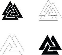 symbol vector simple valknut designs vector free download