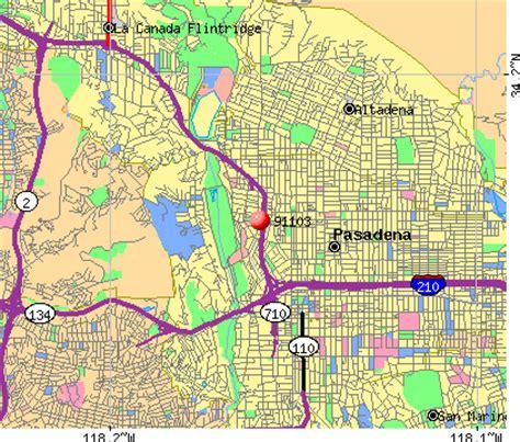 zip code map pasadena ca 91103 zip code pasadena california profile homes