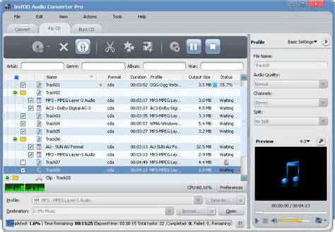 cd audio format zu mp3 how to extract music from cd to mp3 imtoo