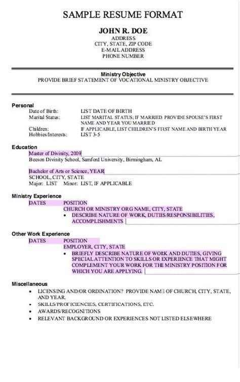 basic resume model 17 best images about free resume sle on