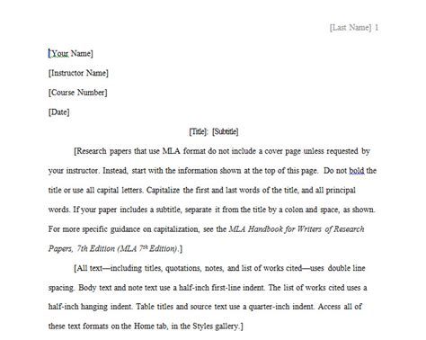 mla paper template mla format paper template 187 template