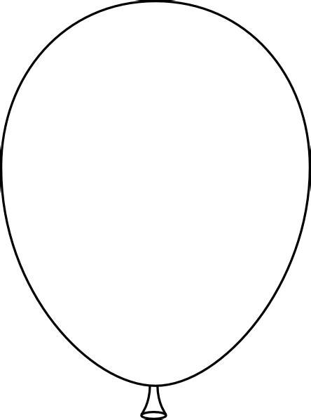 Black And White Balloon Clipart white balloon clip at clker vector clip