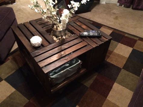 Apple Crate Coffee Table by Coffee Table Made From Apple Crates Crafts For House Coffee Tables And Crates