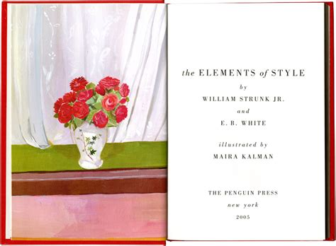 the elements of style illustrated edition books the elements of style illustrated maira kalman