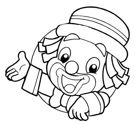 dibujos infantiles para colorear de payasos peque 241 o payaso hd dibujoswiki com