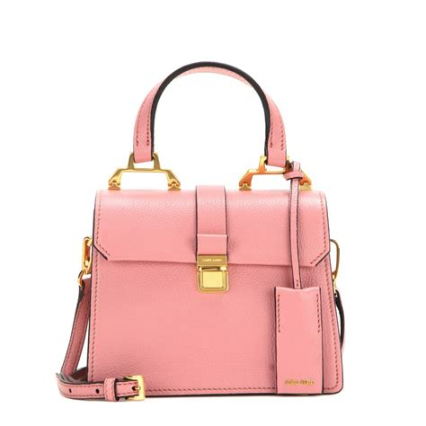 Miu Miu Spider Leather Bag by Lyst Miu Miu Leather Shoulder Bag In Pink