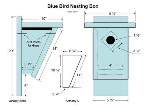 bluebird nest box plans how to build a peterson bluebird