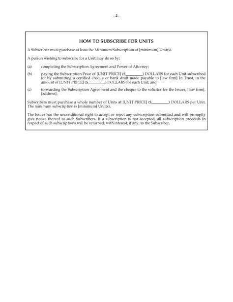 unsecured note template alberta offering memorandum for unsecured promissory notes
