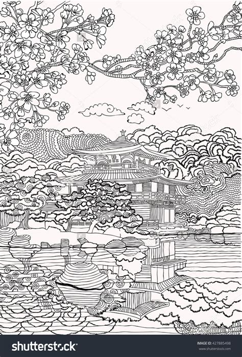 coloring pages for adults japan japan coloring pages shutterstock 427885498 adult