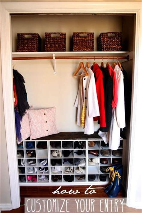 diy entryway organizer entry closet shoe storage and closet on pinterest