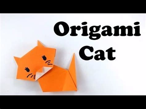 How To Make An Easy Origami Cat - best 25 easy origami animals ideas on