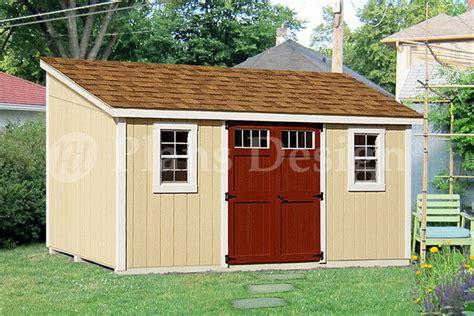 storage shed plans slant lean  dl
