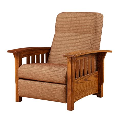 mission reclining chair classic mission recliner amish classic mission recliner