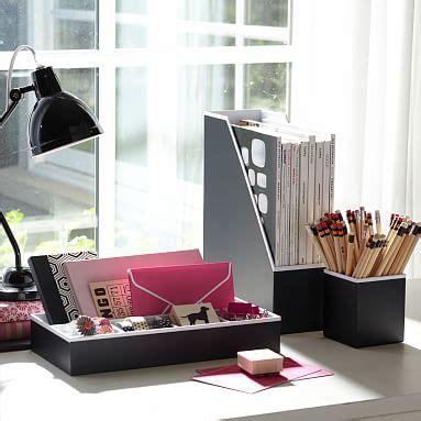 Printed Desk Accessories Solid Black Pbteen Black Desk Accessories