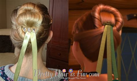 anna from frozen hairstyle pretty hair is fun anna s coronation hairstyle from