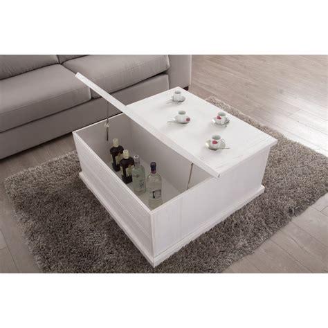 table basse coffre avec plateau relevable et 2 tiroirs