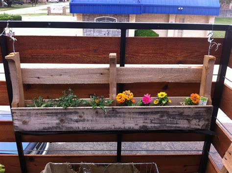 hanging planter box custom diy hanging planter boxes using recycled reclaimed wood on the railings for decks or