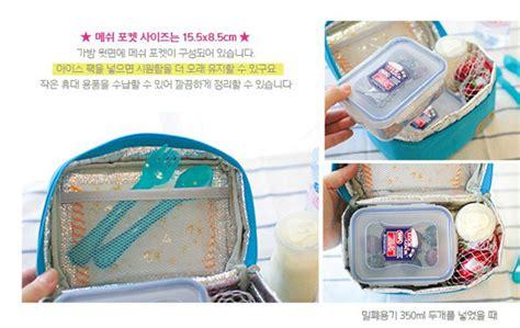 Lunch Cooler Bag Tas Bekal Ada Lapisan Penahan Panas Dingin Bonus jual cooler travel lunch bag pouch tas bekal makanan