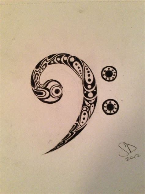 bass clef tattoo designs 16 best images on time tattoos bass