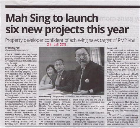 mah sing new year building and investment magazine
