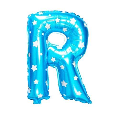 Balon Foil Huruf Warna Biru 40 Cm 217 74 jual johnboss huruf r balon foil harga kualitas terjamin blibli