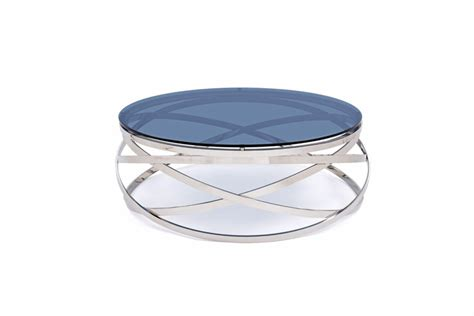 Contemporary Glass Coffee Tables Modrest Tulare Contemporary Smoked Glass Coffee Table Coffee Tables Living Room