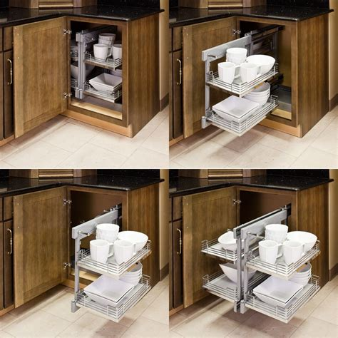 kitchen corner cabinet organizers blind corner organizers get use out of the empty wasted