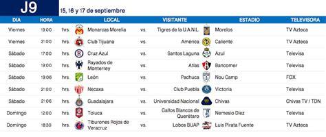 Calendario Dela Liga Mx Calendario Completo Apertura 2017 De La Liga Mx