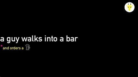 Guy walks into a bar productions movies near