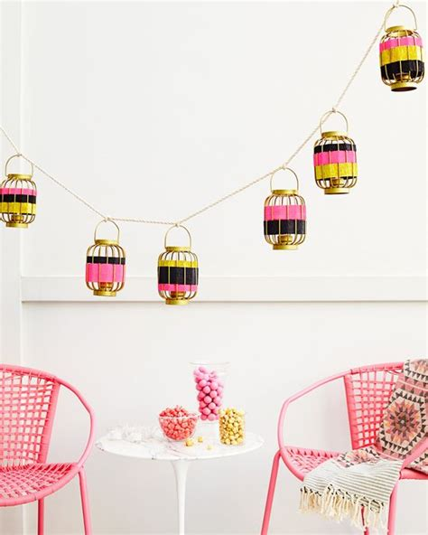 How To Make Crepe Paper Lanterns - the lantern and rope garland you can customize for any