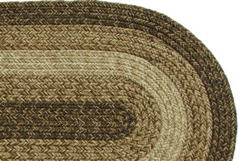 maine brown braided rug