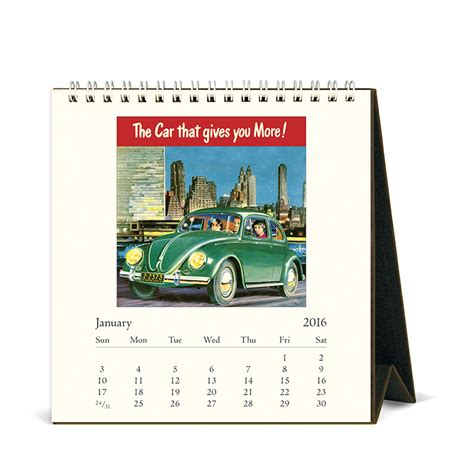 Cavallini Calendars Cavallini Papers 2016 Desk Calendar Vintage 6 X 6 5