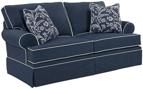 sofa with skirted base emily casual loveseat with skirted base rotmans love