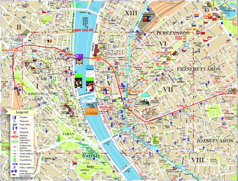 Printable Map Budapest | budapest map detailed city and metro maps of budapest