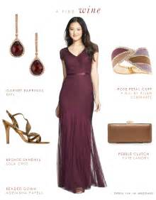wine colored mother of the bride dress