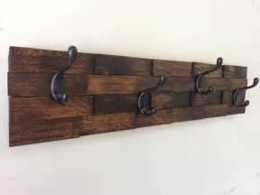 rustic wood coat rack entryway storage wall by