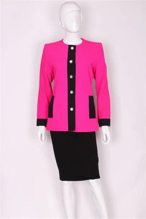 blackpink ysl 1980s ysl pink and black jacket for sale at 1stdibs