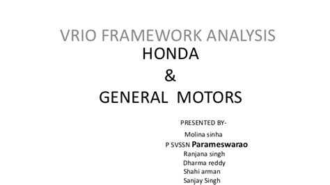 Agreement Of Services Template vrio honda and general motors