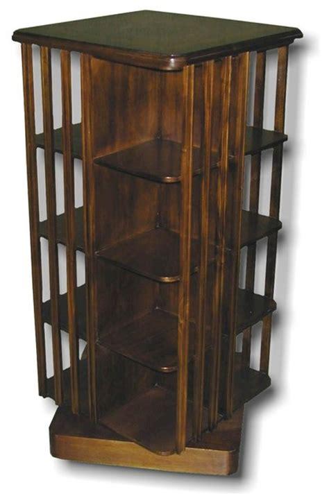 Revolving 8 Shelf Mahogany Bookcase Traditional White Revolving Bookcase